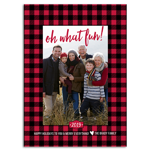 Winter Wishes Buffalo Plaid